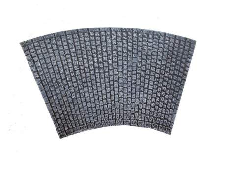 Cobblestone road – bent section, 20mm 1:72 scale