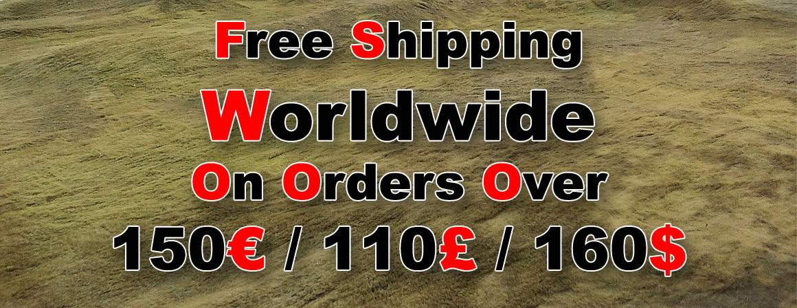 Free Shipping Worldwide on Orders Over 150€/110£/160US$