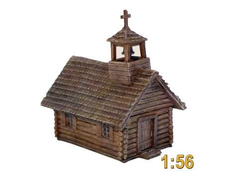French Indian War Log Church 1:56 (28mm)