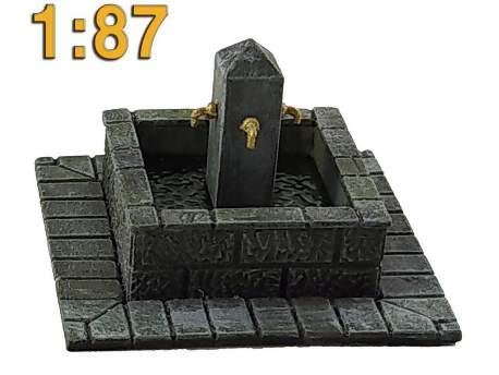 Fountain, HO scale (1/87)